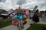 WBC activists picket Montana State University.